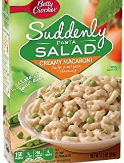 Betty Crocker Suddenly Pasta Salad Creamy Macaroni 6.5 oz (4 pack) (Creamy Macaroni, 6.5 oz)