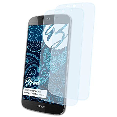 Bruni Schutzfolie kompatibel mit Acer Liquid Jade Primo Folie, glasklare Bildschirmschutzfolie (2X)