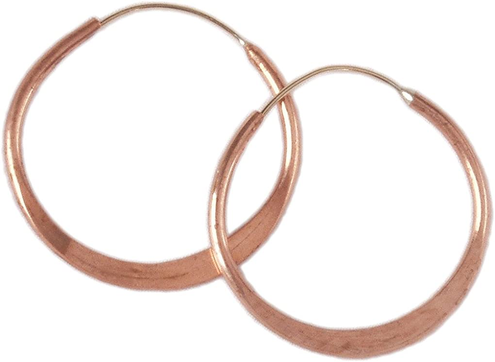 Hoop Earrings Handmade Endless Hoops Brass Hammered 4 Sizes Directly managed Cheap mail order specialty store store