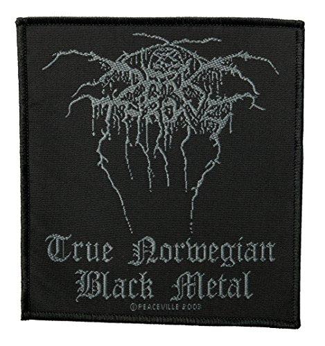 darkt hrone parche–True Norweigan Black Metal–darkt hrone Patch–tejida & licencia oficial..