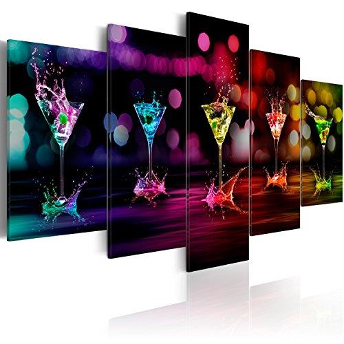 murando - Bilder Drink 200x100 cm Vlies Leinwandbild 5 TLG Kunstdruck modern Wandbilder XXL Wanddekoration Design Wand Bild - Küche Cocktail Wasser Abstrakt bunt 030107-2