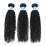Panse Hair 8A Brazilian Kinky Curly Human Hair 3 Bundles 18 20 22 Inches 100% Unprocessed Jerry Curl Hair Extensions 1B Black Color 300g Curly Weave Human Hair For Women