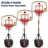 ALLESOK 170CM Kinder Einstellbare Basketballständer Basketballkorb mit Ständer mit Ball und Scoring Gerät
