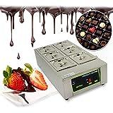 Temperatrice Per Cioccolato 1000W Scaldavivande Elettrico 30℃~80℃ Fontana Di Cioccolato Macchina 6 Serbatoi Per Cioccolata Calda Con Capacità Di