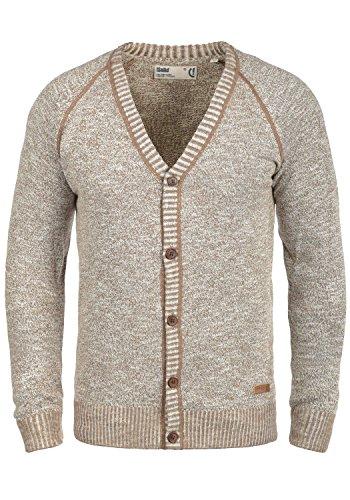 !Solid Thiamin Herren Strickjacke Cardigan Feinstrick Mit V-Ausschnitt und Knopfleiste Aus 100% Baumwolle, Größe:XL, Farbe:Dune (5409)