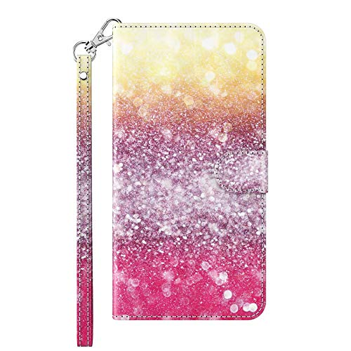 TYWZ Kompatibel mit Samsung Galaxy A42 Hülle,PU Leder Hülle Wallet Flip Case Cover Schutzhülle Handyhüllen Schale mit Ständer Kartenfach Magnetisch-Sand