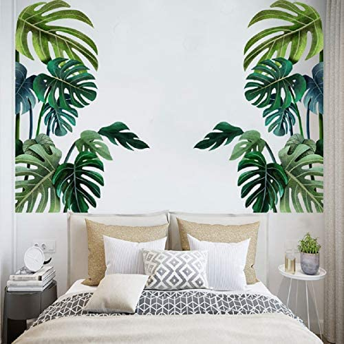 Big Green Plant Leaf Wall Decal Wall Green Big Leaf Sticker Peel and Stick Removable Green Leaf product image