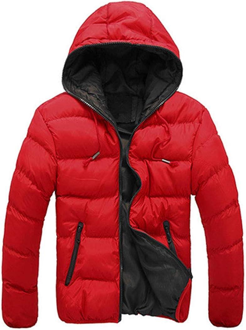 Max 88% OFF xzbailisha Men's Hooded Parkas Thick Oakland Mall Solid Cas Coat Cotton Color