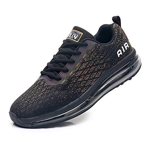 Azooken Scarpe Sportive Uomo Donna Scarpe da Corsa Ginnastica Cuscino Ad Aria Sneaker Tempo Libero Fitness Sneaker da Esterno Traspirante(8998-BG44)