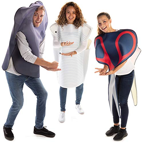 Rock Paper Scissors Halloween Costume Group Pack - Funny One-Size Adult Outfits