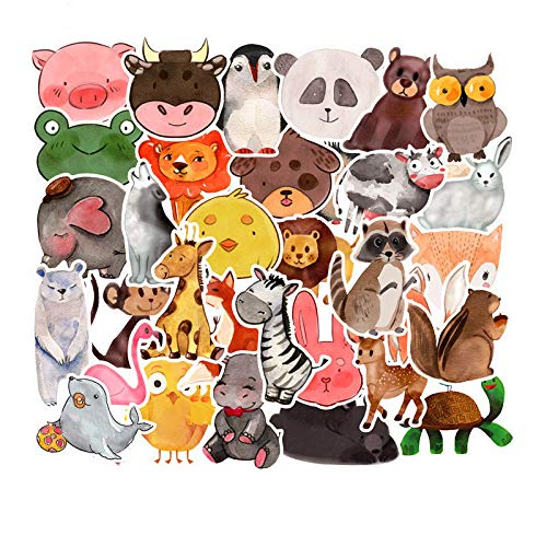 Sticker Pack Cool Stickers 100 Stks Mode Merk Stickers voor Laptop Stickers Motorfiets Skateboard Bagage Decal Graffiti Patches Stickers voor [No-Duplicate Sticker Pack], Dier