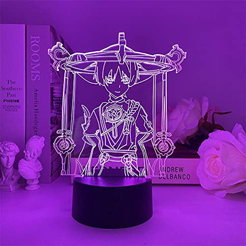 3D LED Decorative lights Anime Haikyuu acrílico LED Night Light Shoyo Hinata Figure for Kids Bedroom Decor Manga Gift Child 3D Table Lamp Bedroom Decoration