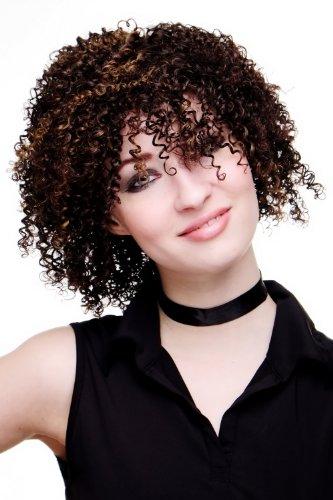 VK Event Fashion - Perruque, Coupe Afro, Châtain,
