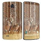 [NakedShield] SkinScratch Guard Vinyl Skin Decal [Full Body Edge] [Matching Wallpaper] - [Deer] Compatible for LG [G3]