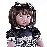 XBR Muñeca Reborn para niña de 24 Pulgadas 60 cm, Muñeca Reborn de Silicona de Vinilo Suave Muñeca Realista para niñas recién Nacida con Ropa (A), Muñecas para bebés