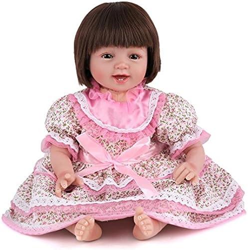 LINAG Babypuppen Reborn Baby Vinyl Silikon Weiß Lebensechte Realistische Wirkendes Neugeborene Wiedergeboren Spielkameraden 5cm Spielhausspielzeug Simulation mädchen Geschenk