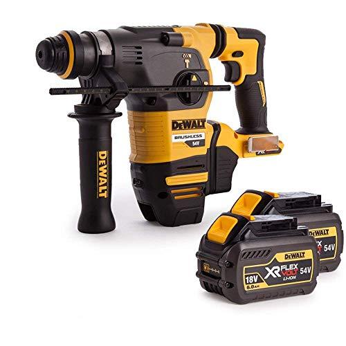 Dewalt DCH333N 54V XR Brushless Flexvolt 3 Mode SDS+ Hammer Drill with 2 x 6Ah Batteries