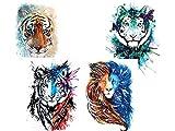 Tigre Tatuajes de león para brazo superior del brazo