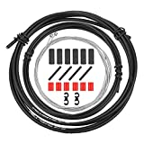 QKURT Kit Universal de Carcasa de Cable de Cambio de Bicicleta, Bicicleta Derailleur Cable House Set para Shimanso Sram Derailleur/MTB Road Bike, Kit básico de reemplazo de Cable de desviador