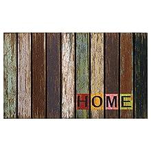 D'CASA Felpudo Moderno Nylon/Goma 75 x 45 cm fotoimpresión, Acrílico, Multicolor, 75 x 40 cm