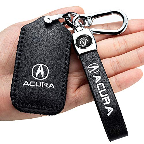 Leather Car Key Fod Cover Case Protector Keyless For Acura CDX NSX RDX RLX TLX TLX-L Smart Remote Premium key fob holder