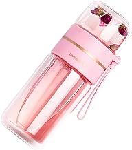Waterfles 450 ml Transparant Glas Waterfles Met Thee Infuser Filter Thee Scheiding Dubbele Muur Glazen Fles Lekvrij Mijn W...