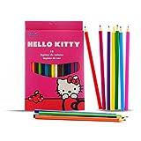 Hello Kitty 121406 Caja 18 Lapices, Multicolor, Talla única