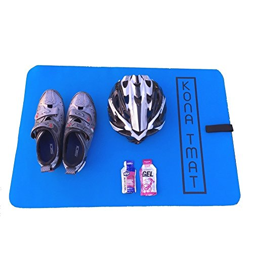 Kona T Mat - Triathlon Transition Mat, Neoprene (Blue)