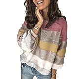 x8jdieu3 Femmes Automne Nouveau LâChe Couleur Unie Col Rond Pull Multicolore Couture Tricot Pull Haut