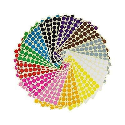 "LJY 3/4"" Round Dot Stickers Color Coding La..."