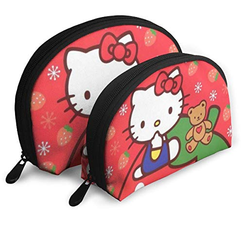 Hallo Kitty erdbeer Make-up Tasche reisetaschen kleine Schale Tasche tragbare Kultur Kupplung Beutel 2 stück