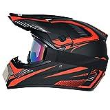 R&P Casco de motocross, para adultos, para exteriores, casco de bicicleta de montaña, de cara completa, para motocross, todoterreno, motocross, motociclismo (Crimson-Phantom,L)