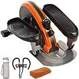 Stamina 55-1603 Inmotion Elliptical Trainer Orange Bundle with 32 oz Leakproof BPA Free Water Bottle, Workout Cooling Sport Towel and Magnetic Wireless Sport Earbuds Gunmetal Grey