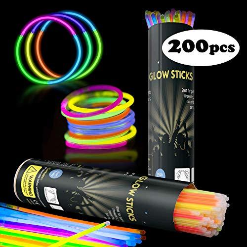 Applife Braccialetti Luminosi Starlight Fluorescenti BRACCIALI Disco Fluo DJ (200 Pezzi)