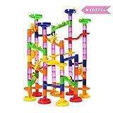 FUNTOK Kugelbahn Murmelbahn Konstruktionsbausteine DIY Bausteine für Kinder Spielzeug Lernspiel Marble Run lustig zusammenspielen 105pcs