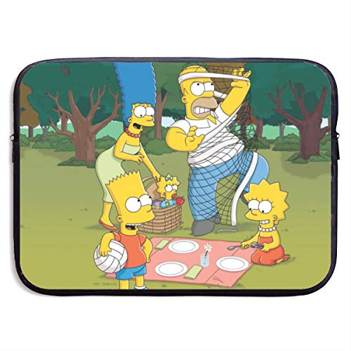 Simpsons Laptop Sleeve Bag Tablet Briefcase Ultraportable Protective Canvas for MacBook Pro/MacBook Air/Notebook Computer15 inch