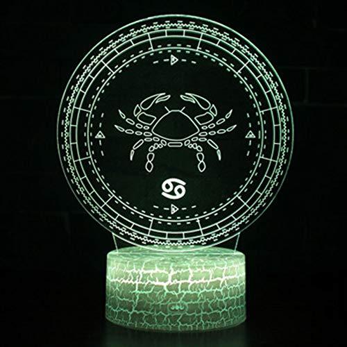 Led-nachtlampje, nachtlampje met 7-kleurig wissel-nachtlampje, schorpioen-sterrenbeeld-patroon, voor kinderen, kinderkamer, hal, kinderkamer, kerstcadeau,