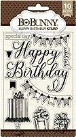 """BoBunny Clear Stamps 4""""X6""""-Happy Birthday"""