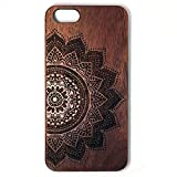 iPhone 6 Plus Case, Phone 6s Plus Case, Slicoo [Nature Series] Wood Slim Covering Case for Apple iPhone 6 / 6s Plus 5.5 inch (Walnut-Yggdrasill) (Rose Flower)