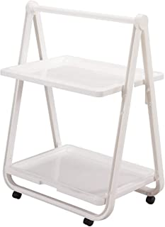 Trenton Gifts Multi-Use Rolling Trolley | Serve Food, Hold Plants or Use As Refreshment Center | Fold When Not In Use | By