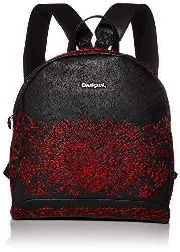 Desigual Damen Backpack Beating Heart Venice Mini modischer Rucksack, Negro, Einheitsgröße