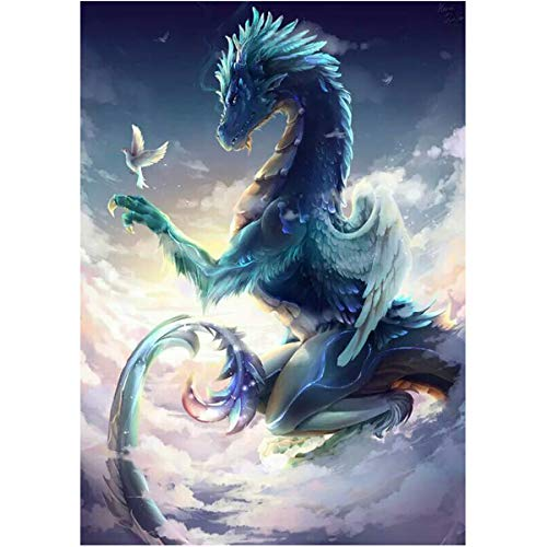 Sunnay Diamond Painting Set,30x40cm,Vogelguter Drache,5D Diamant Painting Set Full Stickerei Groß Bilder DIY Diamonds Malerei