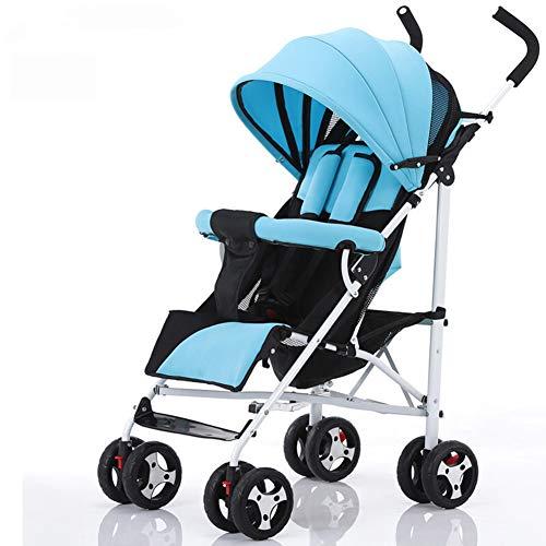 ALIFE Kinderwagen Leichtgewicht Von Geburt an Falten Kinderwagen Kinderreisebuggy Reha-Buggys,Blue