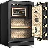 Cajas fuertes de gabinete, caja fuerte caja de caja media con cerradura de combinación caja de dinero seguro de metal con bandeja de dinero seguridad caja fuerte caja segura de seguridad seguro de caj