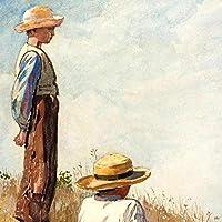 絵画アートワークアートプリント青衣の少年ポスターギャラリーウォールアートキャンバス画像リビングルームの装飾-42x60cmフレームなし