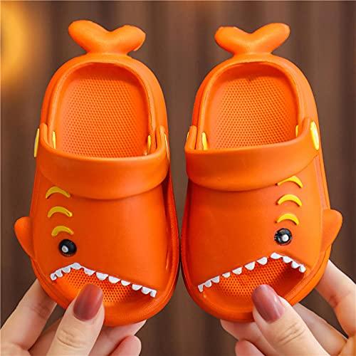 Sensi Ciabatte,Piccole Pantofole per Bambini Piccole, PVC Morbido Bagno Senza Fondo Che Balzano Le Pantofole del Fumetto Svegli, Scarpe da Giardino All'Aperto della Spiaggia-UE 26-27 (160 Mm / 6.3')_