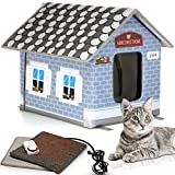 PETYELLA Heated Outdoor Cat House Weatherproof - Easy to Assemble