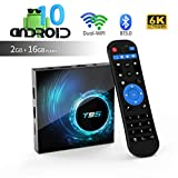 Android TV Box, TUREWELL T95 Android 10.0 Allwinner H616 Quadcore 2GB RAM 16GB ROM Mali-G31 MP2 GPU Soporte 6K 3D 1080P 2.4/5.0GHz WiFi 10/100M Ethernet BT 5.0 DLNA HDMI 2.0 H.265 Smart TV Box