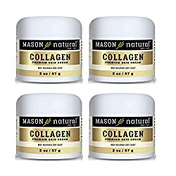 Image of Collagen Beauty Cream Made with 100% Pure Collagen Promotes Tight Skin Enhances Skin Firmness 2 OZ. Jar PACK of 4: Bestviewsreviews