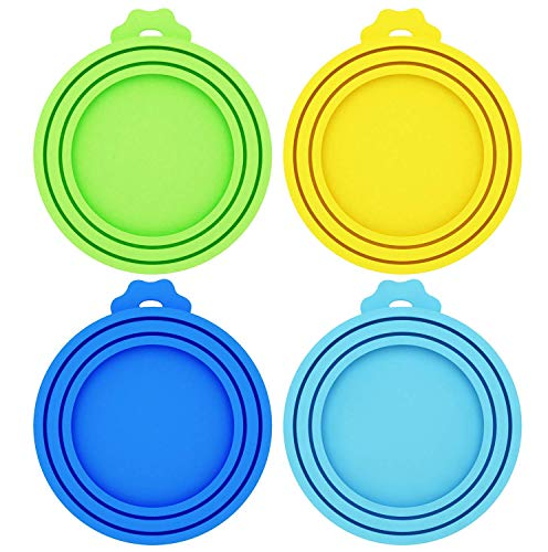 Best Deals! Petsvv 4 Pack Pet Food Can Covers Universal Silicone Can Lids - One Size fit 3 Standard ...